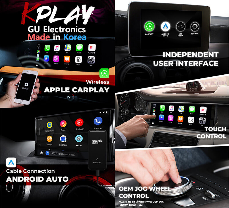 wireless apple Carplay and google Android Auto device k-play