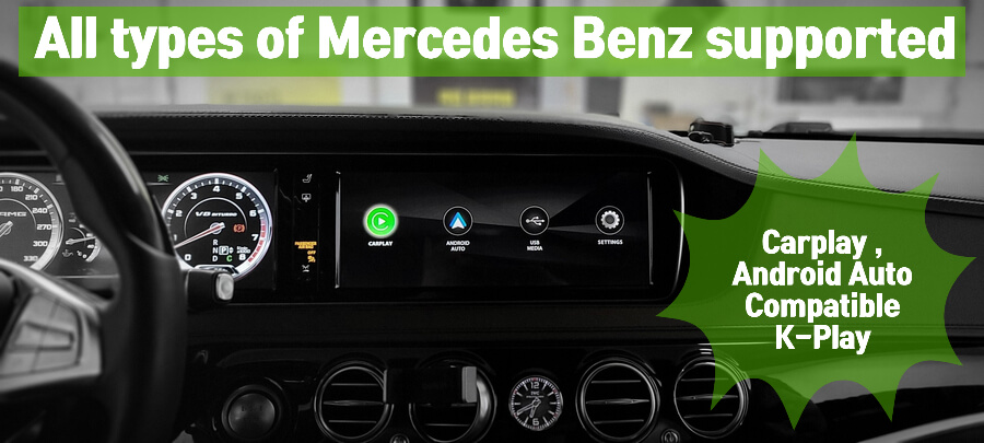 Apple Carplay and google Android Auto compatible all in one device for Mercedes Benz A B C E G CLS CLS GLE GLC S class